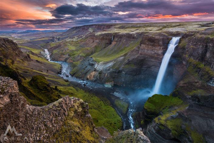Island Wasserfall Haifoss