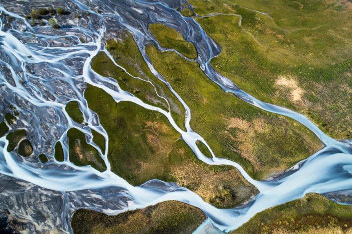 Luftaufnahme Bern Flussmäander