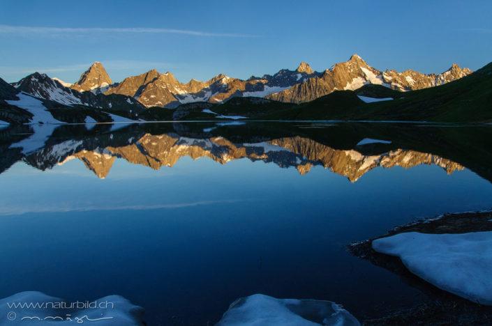 Seespiegelung Lacs de fenetre Bergsee