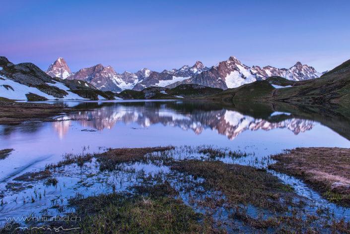 Lacs de fenetre Spiegelung Abend