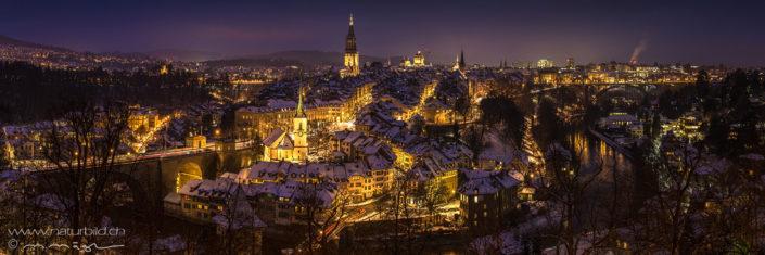 Panorama Bern Nacht Münster