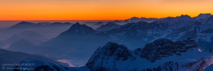 Alpenpanorama Winter Brienzer Rothorn