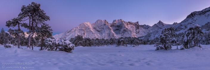 Panorama Schneelandschaft Berge