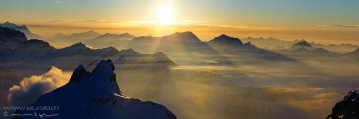 Bergpanorama Stimmung Berner Alpen