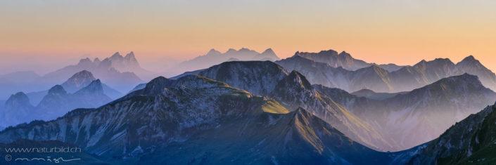 Panoramafoto Gantrisch Gipfel