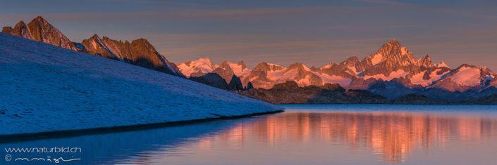 Panoramafoto Gletschersee Tessin
