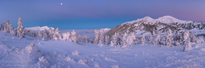 Panorama Glaubenberg Schneelandschaft