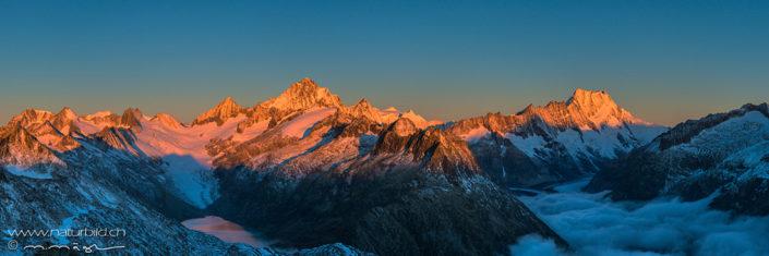Alpenpanorama Grimsel Sonnenaufgang