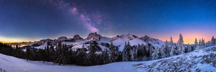 Panorama Gantrisch Sterne