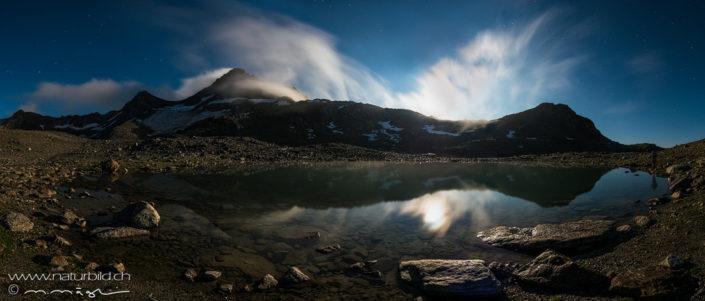 Panorama Joeriseen Abndstimmung Bergsee
