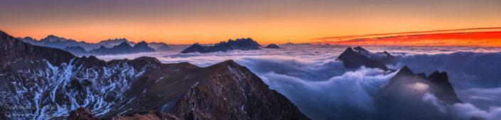 Panorama Kaiseregg Nebelmeer