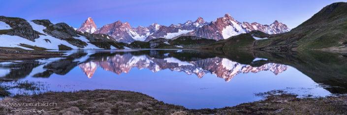 Panorama Lacs de Fenetre Spiegelung Bergsee