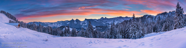 Panorama Moleson Winterlandschaft