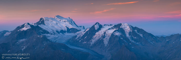 Panorama Montfort Gletscher Schweiz