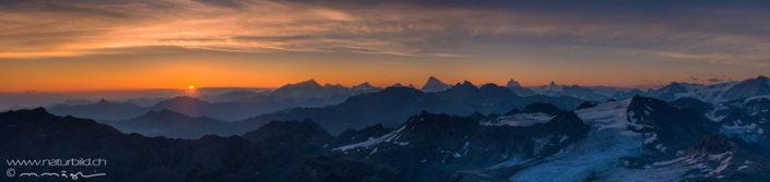 Alpepanorama Montfort Gletscher