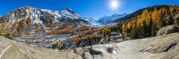 Panorama Morteratsch Berglandschaft Schweiz