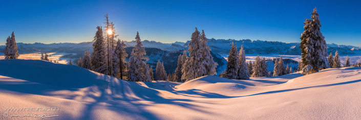 Panorama Winterlandschaft Schweiz