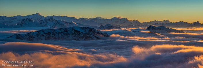 Panorama Berner Oberland Nebelmeer