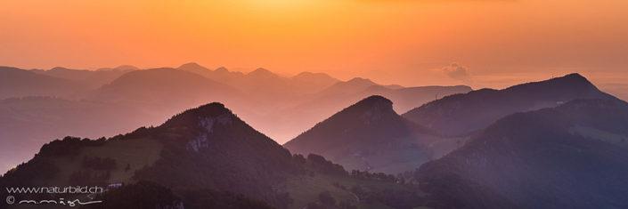 Bergpanorama Schweiz Weissenstein