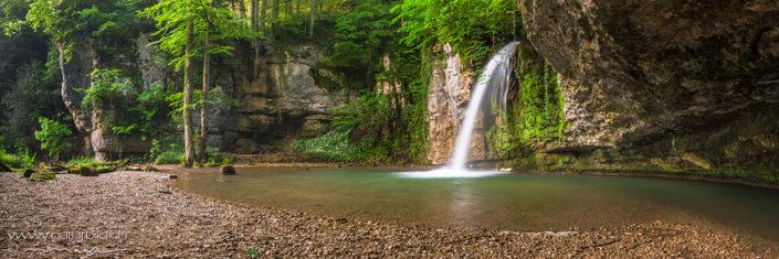 Panorama Wasserfall Wald Zeglingen
