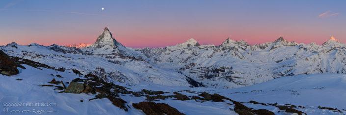 Alpenpanorama Zermatt Matterhorn Winter