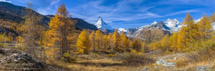 Panorama Berglandschaft mit Matterhorn