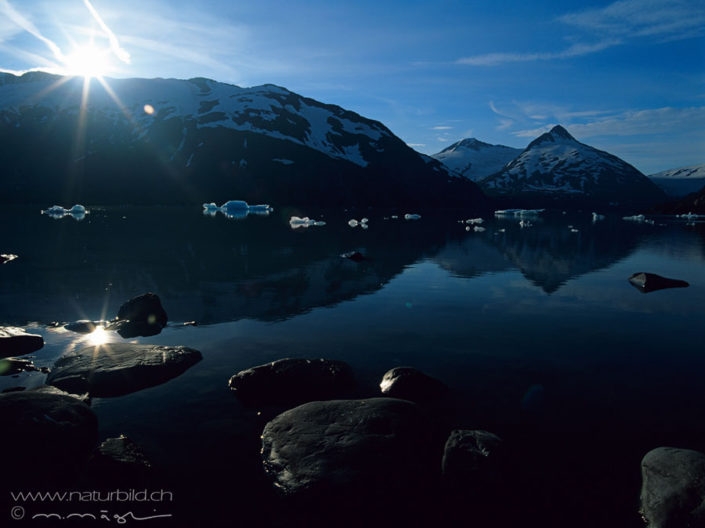 Portage Lake Alaska Eisschollen