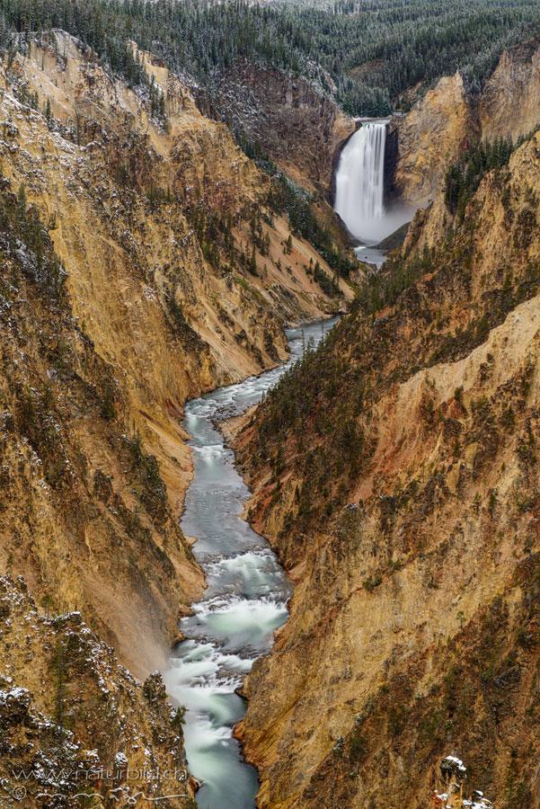 Yellowstone Fluss Wasserfall