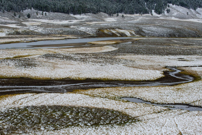 Yellowstone Winter Flussdelta