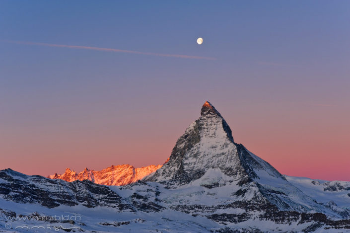 Matterhorn Schnee Sonnenuntergang
