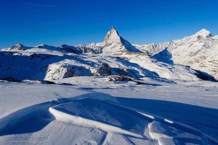 Zermatt Schneelandschaft Matterhorn