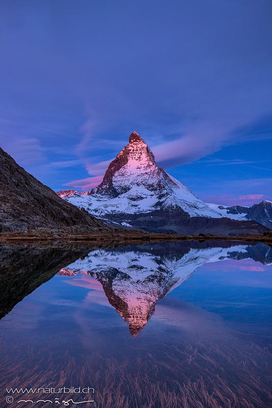 Matterhorn Spiegelung Wallis