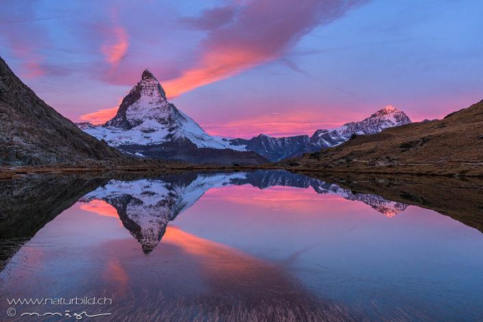 Zermatt Abendrot Matterhorn