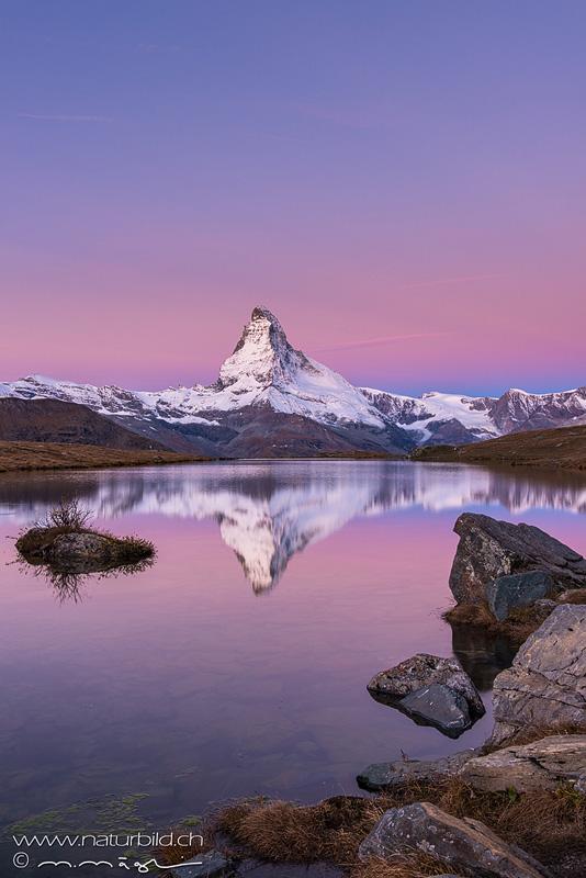 Matterhorn Wallis Daemmerung