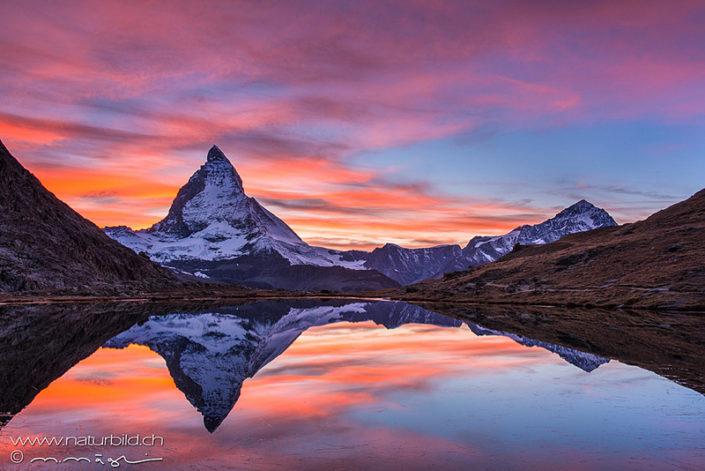 Matterhorn Wallis Spiegelung