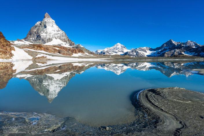Spiegelung Matterhorn Zermatt