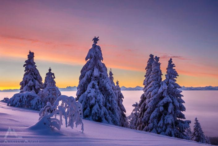 Winterwunderland Schweiz Jura