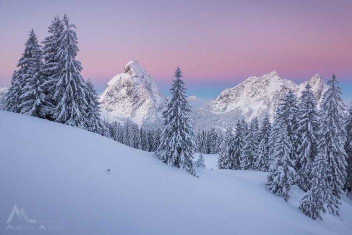 Schwyz Mythen Winter