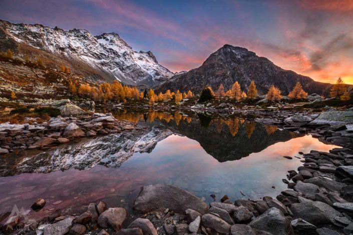 Mässersee Binntal Herbst
