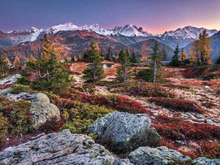 Emosson Mt. Blanc Herbst