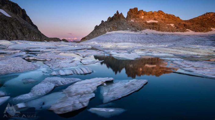 Eisscholle Gerenpass Gletschersee