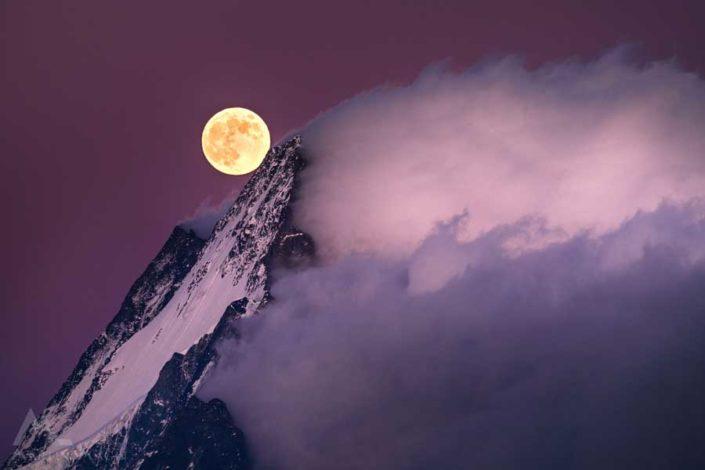 Vollmond Schreckhorn Grindelwald
