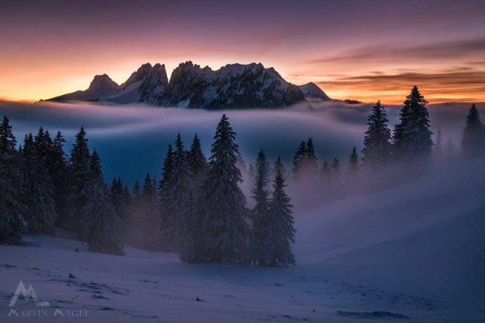 Gastlosen Jaunpass Nebel
