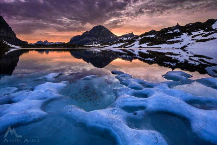 Seealpnersee Eis Bergsee