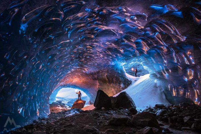 Eishöhle Roseggletscher Engadin