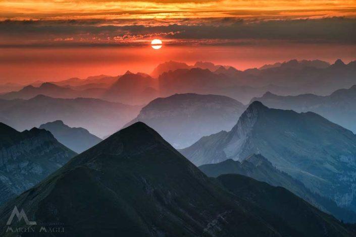 Berge Nidwalden Sonnenaufgang