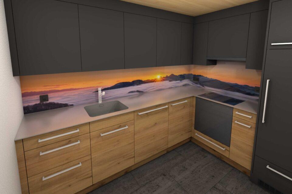 Panoramafotos für Küchenrückwände